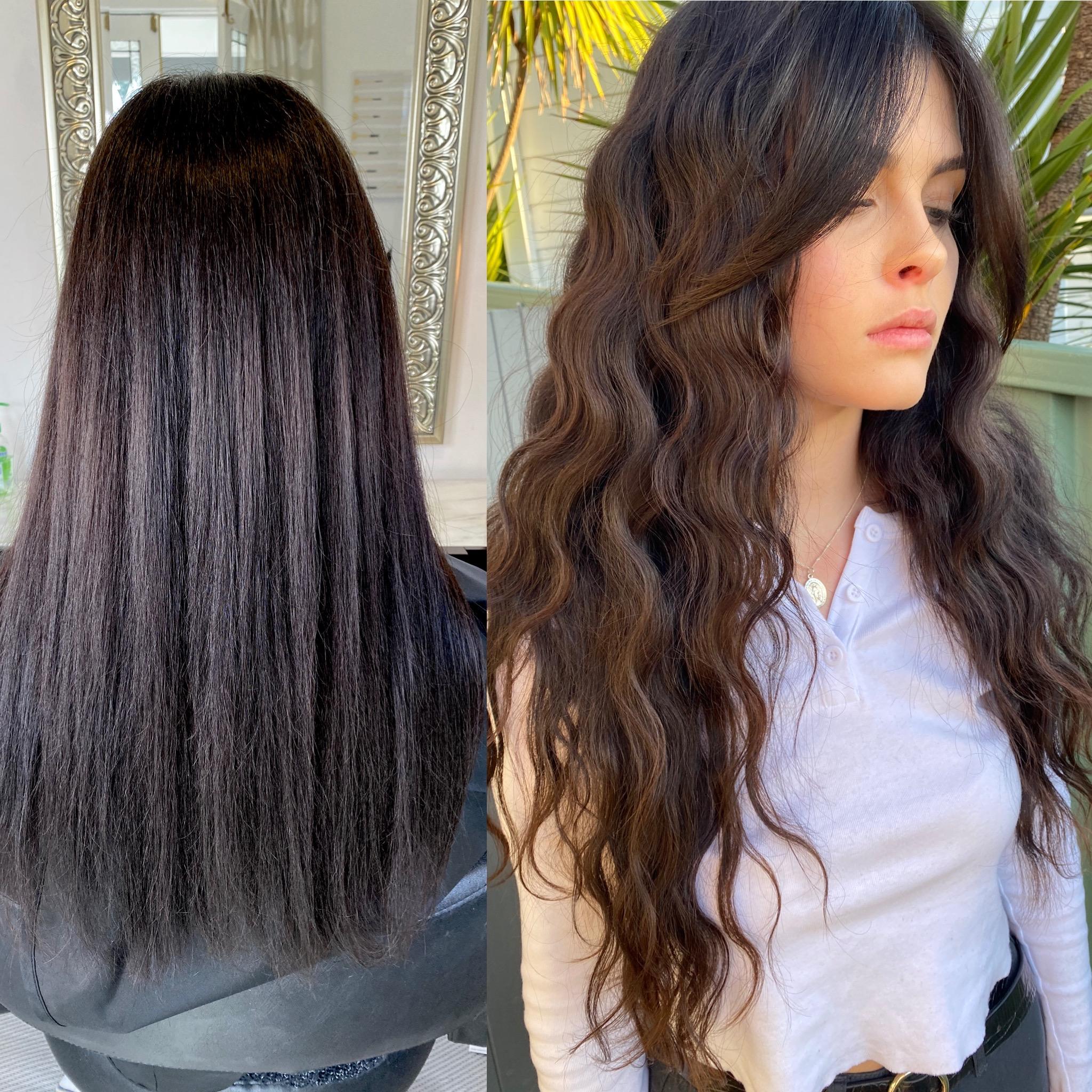 Hair Extensions Newcastle | Sleek Hair Extensions Example